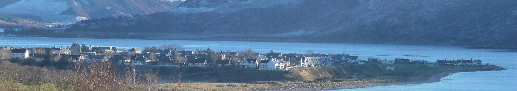 Photo of Ullapool village from Morefield Brae